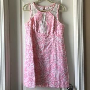 Lilly Pulitzer Pink and Lace Shift Dress